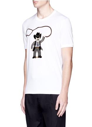 Front View - Click To Enlarge - Dolce & Gabbana - Sicilian cowboy appliqué T-shirt