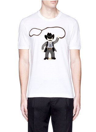 Main View - Click To Enlarge - Dolce & Gabbana - Sicilian cowboy appliqué T-shirt