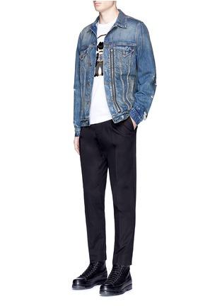 Figure View - Click To Enlarge - Dolce & Gabbana - Sicilian cowboy appliqué T-shirt