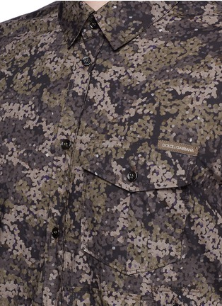 Detail View - Click To Enlarge - Dolce & Gabbana - Digital camouflage print military shirt