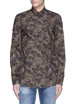 Digital camouflage print military shirt