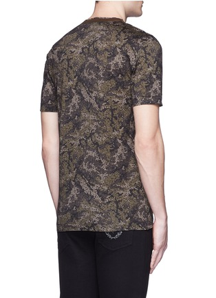 Back View - Click To Enlarge - Dolce & Gabbana - Digital camouflage print V-neck T-shirt