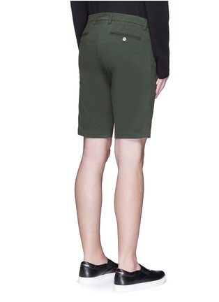 Back View - Click To Enlarge - Dolce & Gabbana - Stretch twill military shorts