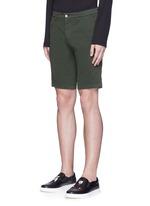 Stretch twill military shorts