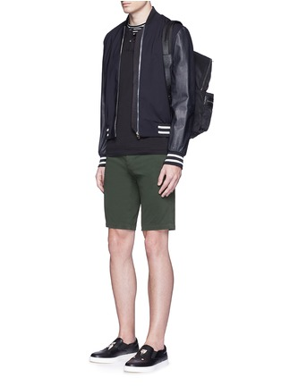 Figure View - Click To Enlarge - Dolce & Gabbana - Stretch twill military shorts