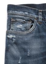'Stretch 14' slim fit medium wash distressed jeans