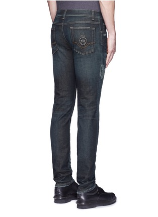 Back View - Click To Enlarge - Dolce & Gabbana - 'Stretch 14' slim fit dark wash distressed jeans