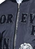 'LOVE' patch appliqué bomber jacket