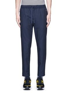 Dolce & GabbanaSlim fit drawstring wool-cotton pants