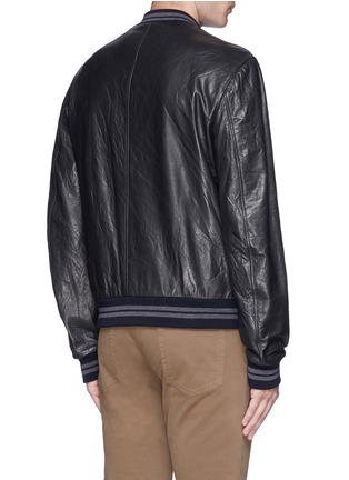 Back View - Click To Enlarge - Dolce & Gabbana - Leather baseball jacket