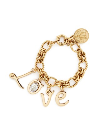 Main View - Click To Enlarge - Lanvin - 'Love' glass crystal charms bracelet