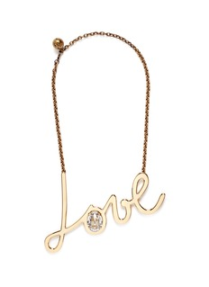 LANVIN 'Love' crystal brass necklace