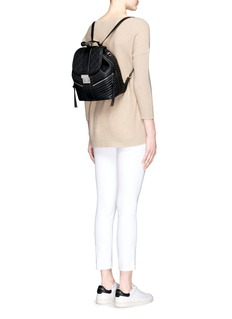 MICHAEL KORS'Elisa' rhodium buckle quilted leather backpack