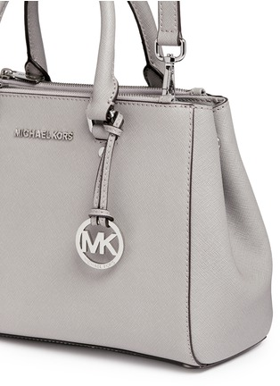 Detail View - Click To Enlarge - Michael Kors - 'Sutton' small saffiano leather satchel