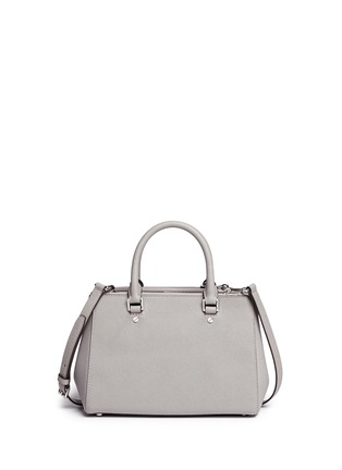 Back View - Click To Enlarge - Michael Kors - 'Sutton' small saffiano leather satchel