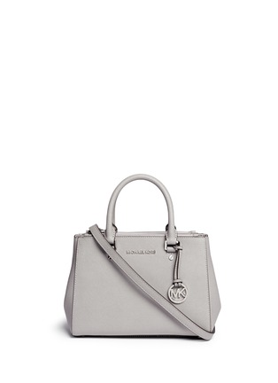 Main View - Click To Enlarge - Michael Kors - 'Sutton' small saffiano leather satchel