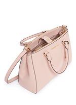 'Sutton' medium saffiano leather satchel