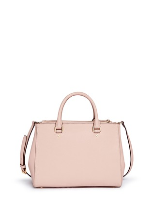 Back View - Click To Enlarge - Michael Kors - 'Sutton' medium saffiano leather satchel