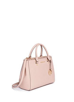 Front View - Click To Enlarge - Michael Kors - 'Sutton' medium saffiano leather satchel