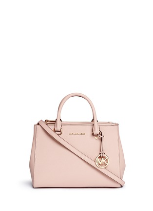 Main View - Click To Enlarge - Michael Kors - 'Sutton' medium saffiano leather satchel