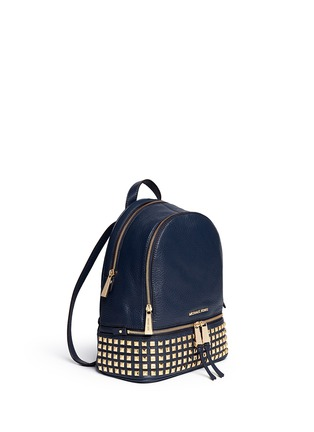 Front View - Click To Enlarge - Michael Kors - 'Rhea' small stud leather backpack