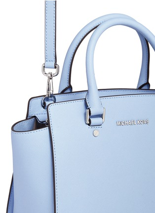 Detail View - Click To Enlarge - Michael Kors - 'Selma' medium saffiano leather satchel