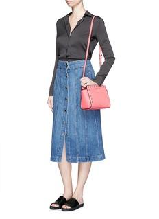 MICHAEL KORS'Selma Stud' medium saffiano leather messenger bag