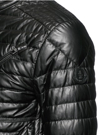 Detail View - Click To Enlarge - Moncler - 'Casteu' quilted down leather jacket