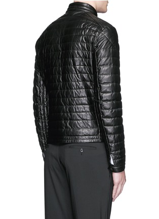 Back View - Click To Enlarge - Moncler - 'Casteu' quilted down leather jacket