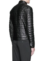'Casteu' quilted down leather jacket