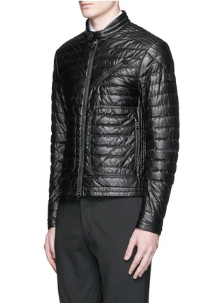 Front View - Click To Enlarge - Moncler - 'Casteu' quilted down leather jacket