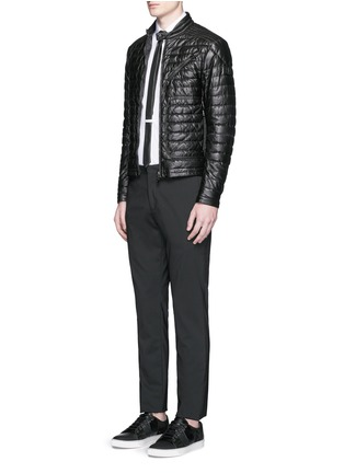 Figure View - Click To Enlarge - Moncler - 'Casteu' quilted down leather jacket