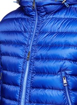 'Mir' quilted down hood jacket