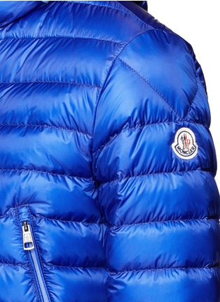Detail View - Click To Enlarge - Moncler - 'Mir' quilted down hood jacket