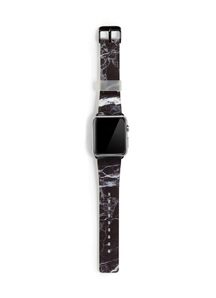 Main View - Click To Enlarge - Casetify - Black marble print 38mm Apple Watch bracelet