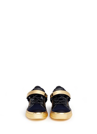 Figure View - Click To Enlarge - Giuseppe Zanotti Design - 'London' velvet low top sneakers