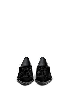 STUART WEITZMAN'Avatass' patent leather kiltie loafers