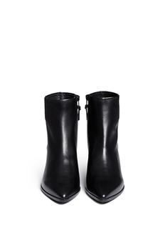 STUART WEITZMAN'Banjosvelt' zip leather boots
