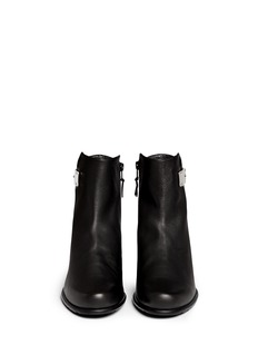 STUART WEITZMAN'Barcode' metal plate leather ankle boots