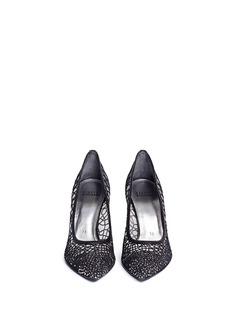 STUART WEITZMAN'Twinkle Toes' Swarovski crystal lace pumps