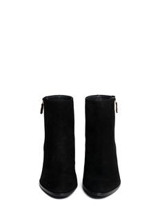 STUART WEITZMAN'Zipzipzip' suede zip-up ankle boots