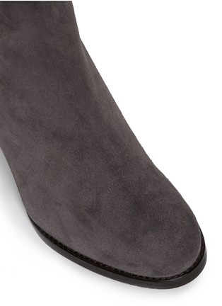 Detail View - Click To Enlarge - Stuart Weitzman - 'Half N Half' elastic back suede knee high boots