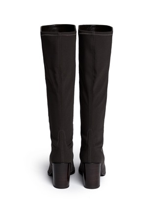 Back View - Click To Enlarge - Stuart Weitzman - 'Half N Half' elastic back suede knee high boots
