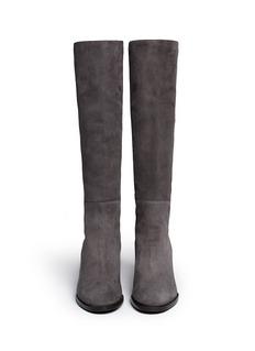 STUART WEITZMAN'Half N Half' elastic back suede knee high boots
