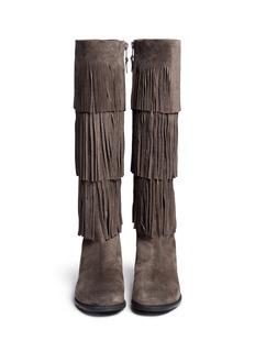 STUART WEITZMAN'Swinglow' fringe suede boots