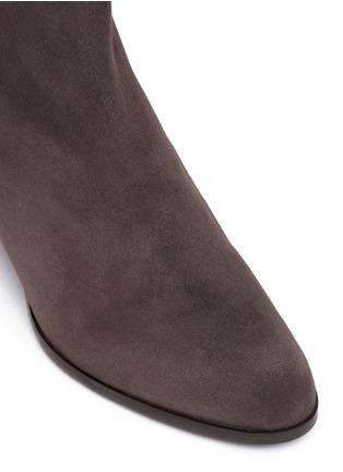 Detail View - Click To Enlarge - Stuart Weitzman - 'ZipZipZip' suede ankle boots
