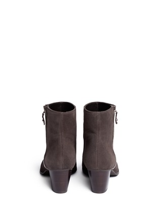 Back View - Click To Enlarge - Stuart Weitzman - 'ZipZipZip' suede ankle boots