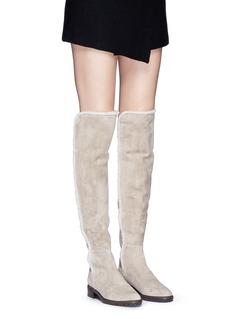 STUART WEITZMAN'Parka' thigh high suede boots