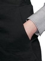 'Taminara' inverted pleat linen shorts