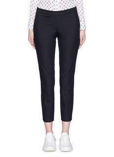 THEORY'Thaniel' elastic waist cropped pants